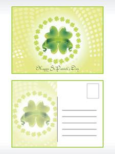 Shamrock Pattern Patrick's Day Postcard