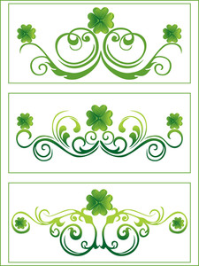 Shamrock With Swirl Pattern Art 17 March