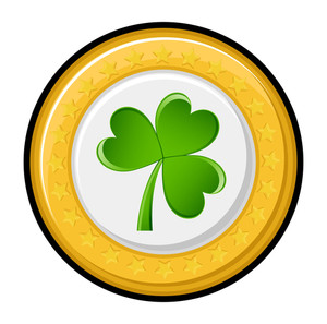 Shamrock Yellow Vector Coin