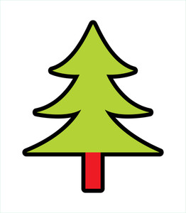Shape Of Christmas Tree