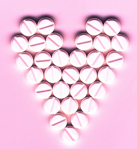 Shape Of Heart Made Of Pills