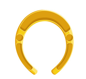 Shape Of Vintage Horseshoe