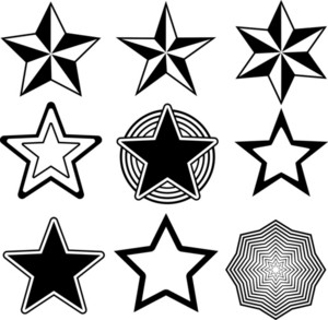 Shapes Stars 1 Vector