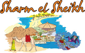 Sharm El Sheikh Vector Doodle