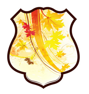 Shield With Floral Vector Illustration