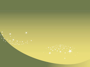 Shining Stars With Green Background