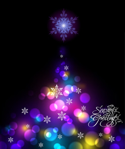Shinny Christmas Tree Background