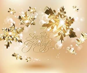 Shinny Golden Snowflakes