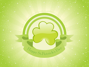 Shiny Background With Banner For Patrick Day