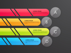 Shiny colorful infographic elements for your Business reports and presentation.