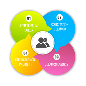 Shiny colorful infographic elements on white background for your Business.