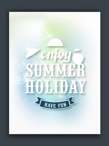 Shiny flyer template or banner design of Summer Holiday for tour and travels.