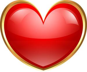 Shiny Glassy Heart