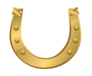 Shiny Golden Fortune Horseshoe
