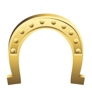 Shiny Golden Vector Horseshoe