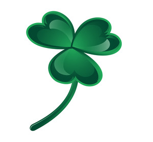 Shiny Green Clover Leaf