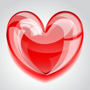 Shiny Heart Illustration