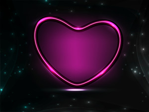 Shiny Heart Shape In Purple Color.