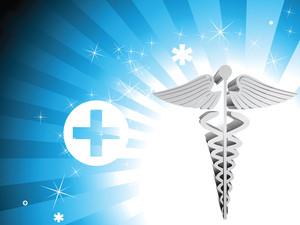 Shiny Medical Rays Background