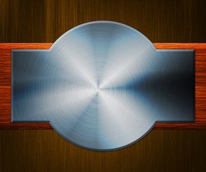 Shiny Metal Plate Background