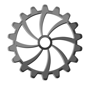 Shiny Metallic Gear Wheel