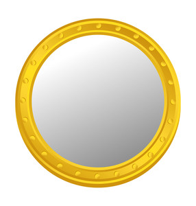 Shiny Metallic Yellow Coin