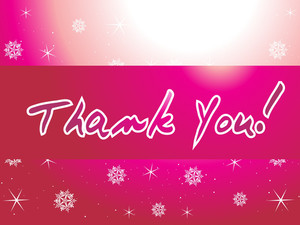 Shiny Pattern Magenta Background For Thank You