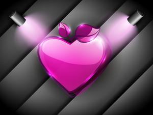 Shiny Pink Valentine Heart.