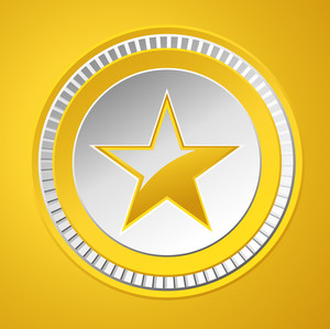 Shiny Star Gold Coin