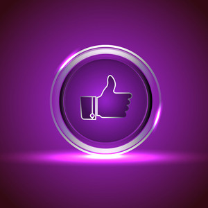 Shiny Vector Icon For Social Networking. Vector Illustration. Eps 10