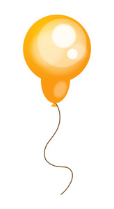 Shiny Yellow Balloon Vector Design
