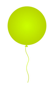 Shiny Yellow Balloon Vector