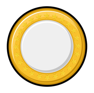 Shiny Yellow Coin Vector