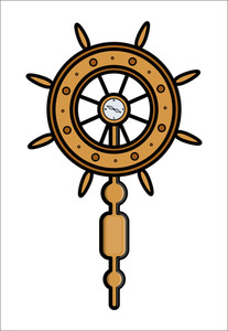 Ship Wheel Controller - Vector Illustration