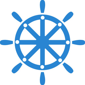 Ships Wheel Simplicity Icon