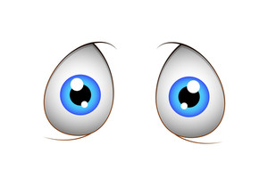 Shocked Cartoon Eyes Vector Cartoon