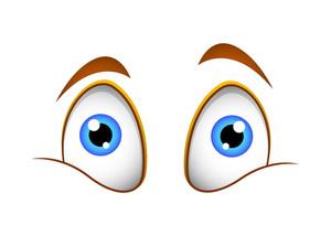 Shocked Cartoon Eyes Vector Illustration