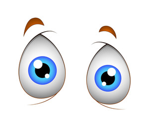 Shocked Cartoon Eyes Vector