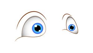 Shocked Cartoon Vector Eyes Illustration