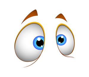 Shocked Cartoon Vector Eyes