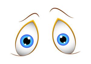 Shocked Cute Cartoon Eyes