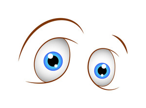 Shocked Eye Cartoon Vector