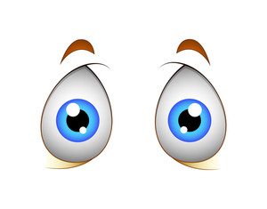 Shocked Eyes Vector Cartoon