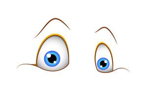 Shocked Funny Cartoon Eyes