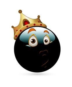Shocked King Smiley With Golden Crown
