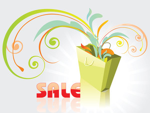 Shopping Bag Full With Vector Elements