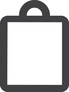 Shopping Bag Stroke Icon
