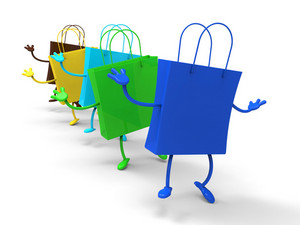 Shopping Bags Dancing Shows Retail Buys