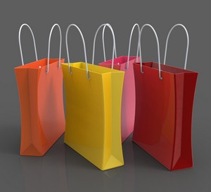 Shopping Bags Showing Retail Shop