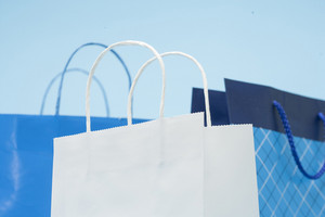 Shopping bags still life view